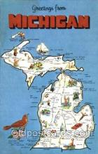 LLS001254 - Large Letter States, Greetings From Michigan Postcard Postcards