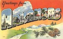 LLS001259 - Arkansas, USA Large Leter State Postcard Postcards