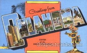 LLS001261 - Oklahoma, USA Large Leter State Postcard Postcards