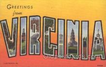 LLS001271 - Virginia, USA Large Letter State States Postcard Postcards