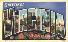 LLS001272 - Virginia, USA Large Letter State States Postcard Postcards