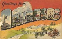 LLS001274 - Arkansas, USA Large Letter State States Postcard Postcards