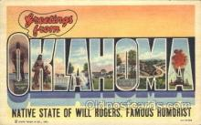 LLS001275 - Oklahoma, USA Large Letter State States Postcard Postcards