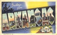 LLS001276 - Arkansas, USA Large Letter State States Postcard Postcards
