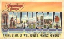 LLS001278 - Oklahoma, USA Large Letter State States Postcard Postcards