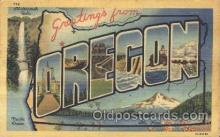 LLS001283 - Oregon, USA Large Letter State States Postcard Postcards