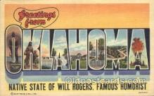 LLS001284 - Oklahoma, USA Large Letter State States Postcard Postcards