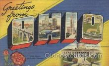 LLS001288 - Ohio, USA Large Letter State States Postcard Postcards
