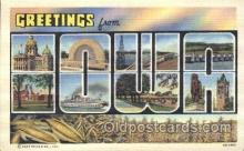 LLS001290 - Iowa, USA Large Letter State States Postcard Postcards