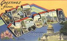 LLS001291 - West Virginia, USA Large Letter State States Postcard Postcards