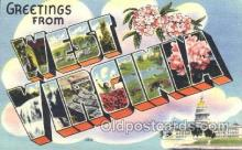 LLS001293 - West Virginia, USA Large Letter State States Postcard Postcards