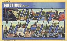 LLS001294 - West Virginia, USA Large Letter State States Postcard Postcards