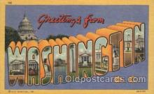 LLS001300 - Washington, USA Large Letter State States Postcard Postcards