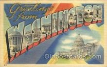 LLS001303 - Washington, USA Large Letter State States Postcard Postcards