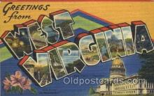 LLS001304 - West Virginia, USA Large Letter State States Postcard Postcards