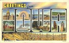 LLS001305 - Iowa, USA Large Letter State States Postcard Postcards