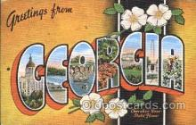 LLS001306 - Georgia, Usa Large Letter State States Postcard Postcards