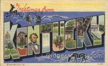 LLS001307 - Kentucky, USA Large Letter State States Postcard Postcards