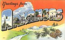 LLS001308 - Arkansas, USA Large Letter State States Postcard Postcards