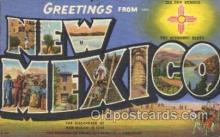 LLS001309 - New Mexico, USA Large Letter State States Postcard Postcards
