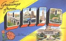 LLS001310 - Ohio, USA Large Letter State States Postcard Postcards