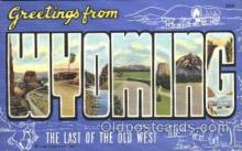 LLS001312 - Wyoming, Usa Large Letter State States Postcard Postcards