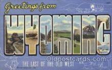 LLS001316 - Wyoming, Usa Large Letter State States Postcard Postcards