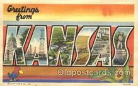 LLS001318 - Kansas, USA Large Letter State States Postcard Postcards