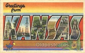 LLS001319 - Kansas, USA Large Letter State States Postcard Postcards