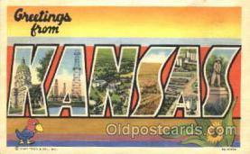 LLS001320 - Kansas, USA Large Letter State States Postcard Postcards