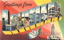 LLS001324 - Louisiana, USA Large Letter State States Postcard Postcards