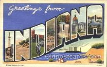 LLS001329 - Indiana, USA Large Letter State States Postcard Postcards
