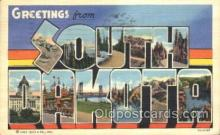 LLS001330 - South Dakota, USA Large Letter State States Postcard Postcards