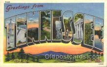 LLS001332 - Tennessee, USA Large Letter State States Postcard Postcards