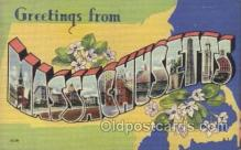 LLS001333 - Massachusetts, USA Large Letter State States Postcard Postcards