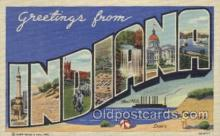 LLS001334 - Indiana, USA Large Letter State States Postcard Postcards