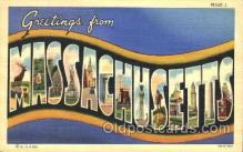 LLS001335 - Massachusetts, USA Large Letter State States Postcard Postcards