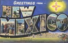 LLS001336 - New Mexico, USA Large Letter State States Postcard Postcards