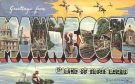 LLS001337 - Minnesota, USA Large Letter State States Postcard Postcards