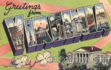 LLS001339 - Virginia, USA Large Letter State States Postcard Postcards