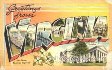 LLS001340 - Virginia, USA Large Letter State States Postcard Postcards