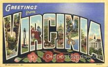 LLS001341 - Virginia, USA Large Letter State States Postcard Postcards