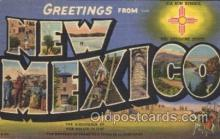 LLS001342 - New Mexico, USA Large Letter State States Postcard Postcards