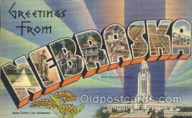 LLS001345 - Nebraska, USA Large Letter State States Postcard Postcards