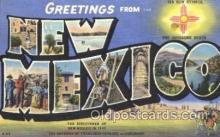 LLS001346 - New Mexico, USA Large Letter State States Postcard Postcards
