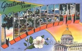 LLS001347 - Mississippi, USA Large Letter State States Postcard Postcards