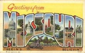 LLS001348 - Missouri, USA Large Letter State States Postcard Postcards