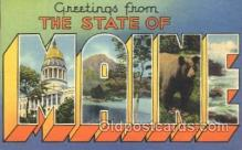 LLS001350 - Maine, USA Large Letter State States Postcard Postcards