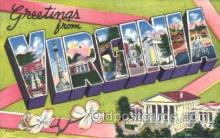 LLS001353 - Virginia, USA Large Letter State States Postcard Postcards