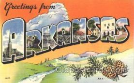 LLS001354 - Arlansas, USA Large Letter State States Postcard Postcards